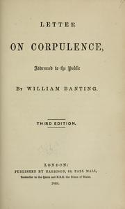 book cover on corpulence banting