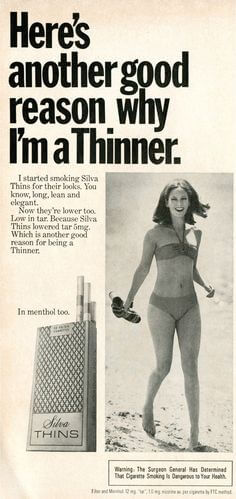 virginia slims make you slim ad