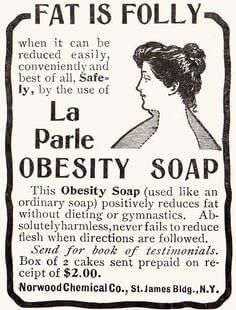 obesity soap vintage ad