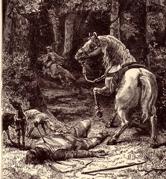 William falls off his horse