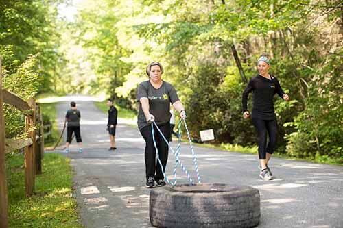 tire pull for strength training