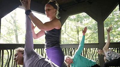 amber teaching yoga