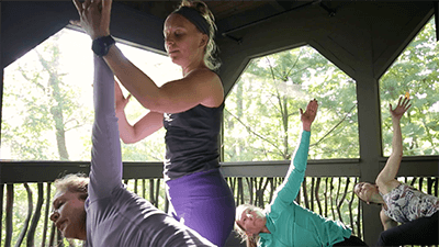 yoga in the treehouse